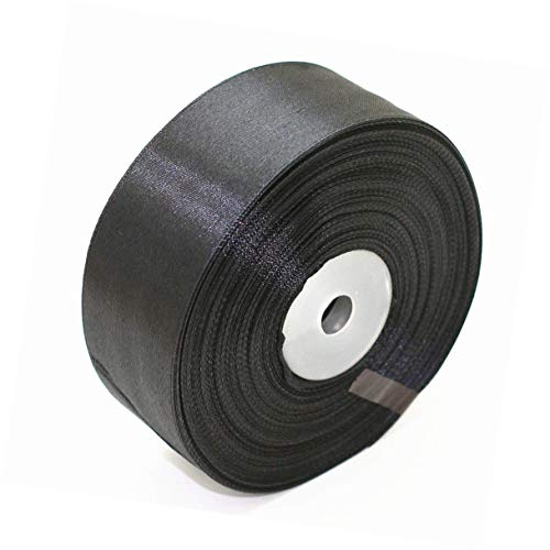 SWTOOL 1.5' Single Face Satin Ribbon 50 Yards Roll for Gift Wrap Sewing Projects Crafting Projects DIY Bow Wedding Decoration (Black)