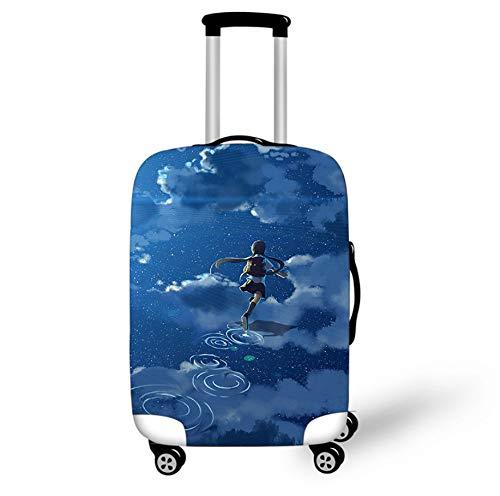 Funda Protectora De Maleta De Equipaje De Dibujos Animados 26-28 Pulgadas Diseño Estrellado Trolley De Viaje En El Hogar Equipaje Protector De Equipaje Funda Infantil L