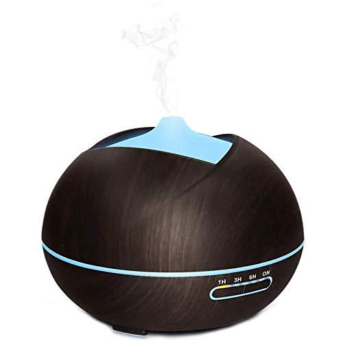 Aromatherapie ultrasone aromatherapie diffuser met luchtbevochtiger 400 ml met 7 gekleurde LED-lampen voor etherische olie voor thuis aroma Bruin