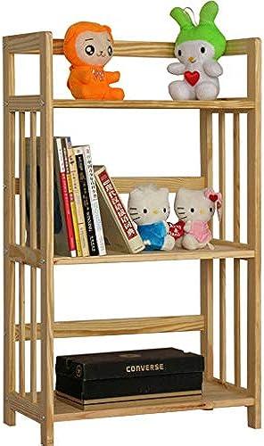 Bücherregal 3-Tier Kiefernholz Speicherorganisator Regal, Utility Bookshelf Blaume Stand Dekor Display Rack, für Zuhause Schlafzimmer Wohnzimmer Büro