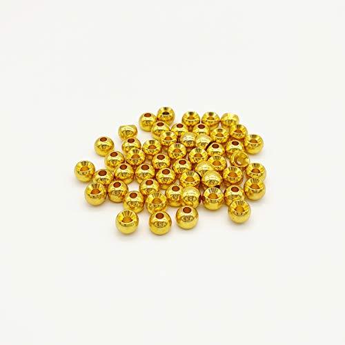 オルルド釣具 タングステン フライタイイングビーズ 丸型 標準穴タイプ 50個入 (ゴールド / 4mm) qb500119a06n0