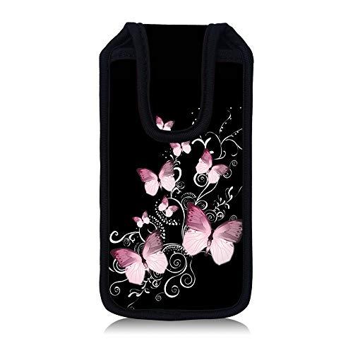 MySleeveDesign iPhone 5 Hülle Tasche (auch passend für iPhone 5S und 5C) - VERSCH. Designs - Butterfly Black