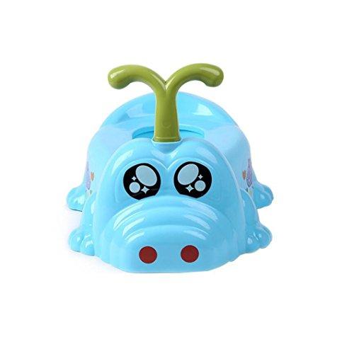 HJXJXJX Toilettes pour enfants, 1-6 ans avec poulie enfants modélisme hippo bébé toilette , blue