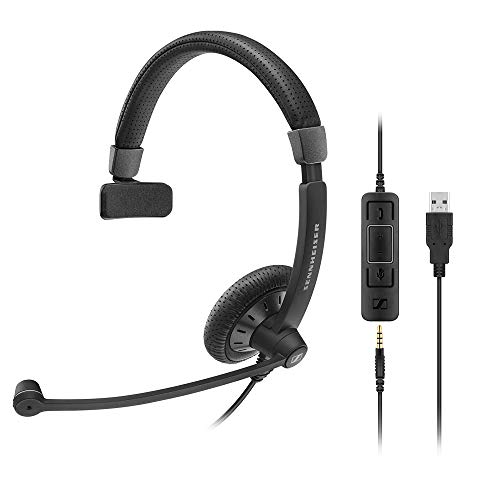 Sennheiser SC 45USB MS Headset Stirnband Schwarz Kopfhörer–Kopfhörer (Callcenter/Büro, Headset, Haarband, Schwarz, Kontrolle Online, kabelgebunden)