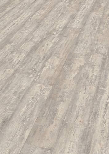 EGGER EHD020 Designboden GreenTec-Zappulla Pinie hell (7,5mm kompakt 1,99 m²) Design-extrem robust, strapazierfähig, pflegeleicht, wasserfest und PVC frei, grau