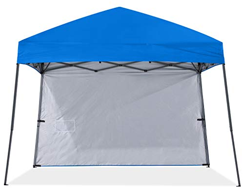 ABCCANOPY Stable Pop up Outdoor Canopy Tent with 1 Sun Wall, Bonus Backpack Bag,Royal Blue