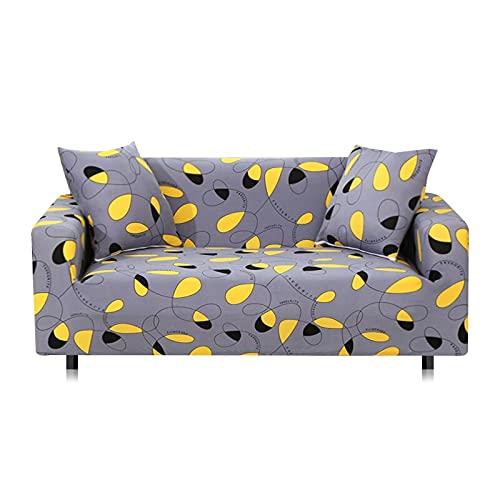 WXQY Funda de sofá elástica con Todo Incluido, Funda de sofá en Forma de L Funda de sillón para Sala de Estar, Funda de protección de Muebles A17 de 4 plazas
