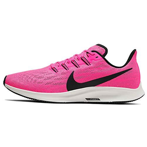 Nike Herren Air Zoom Pegasus 36 Laufschuhe, Pink Blast/Black/Vast Grey, 43 EU