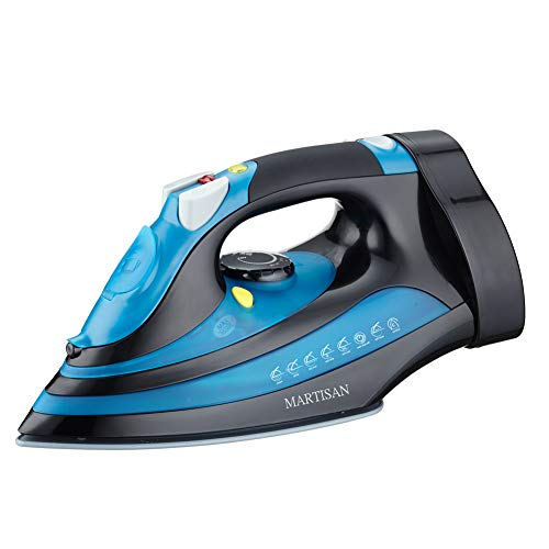 MARTISAN Iron with Retractable Cord, 1200W Steam Iron Auto Shut Off, Irons with Ceramic Soleplate, Not a Used Iron