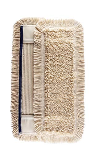 Unbekannt 2 x Wischmop 100{e9e6a8d0c71aabdae86888cd2f09471acdcea18b7f96c42e303ba333254c3ce9} Baumwolle 40 cm Taschen aus Polyester - Wischbezug zur Echtholz trocken nass Bodenpflege - Bodenwischer Dielen Parkett Laminat & Fliesen 40 cm Ohne Mikrofaser