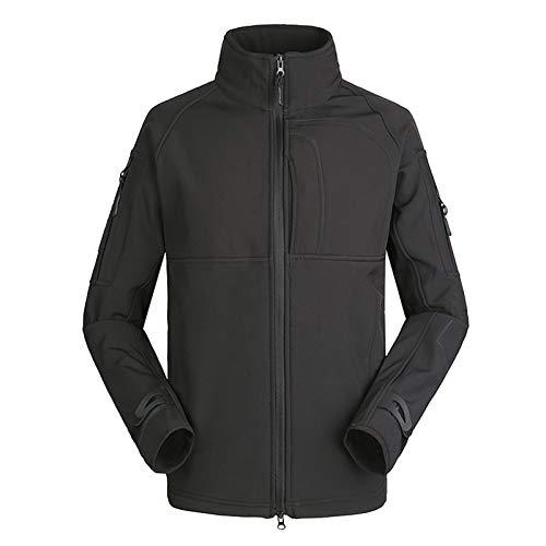 THWJSH Chaqueta militar para hombre, chaqueta con cremallera, forro polar al aire libre, deportes, camuflaje, ropa cálida, impermeable, para pesca/caza, talla 8-XXXL