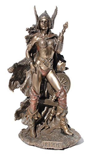 Frigga Norse Goddess of Love and Marriage Statue Figurine Cold Cast Bronze