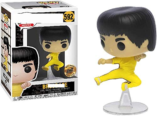 Pop Bruce Lee Nunchaku Jeet Kune Modelo de Anime conmemorativo Juguete niños Regalos decoración de Coche Caja de PVC-C.