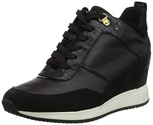 Geox Damen D NYDAME C Sneaker, Schwarz (Black C9999), 39 EU