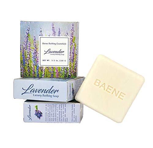 Baene Luxury Bathing Soap 3 Pcs Combo Gift Pack for Men, Women - Shea Butter Rejuvenating Beauty Bar -Lavender (100 g) - Pack of 3, Organic Handmade
