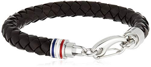 Tommy Hilfiger jewelry - Pulsera de acero inoxidable con cierre de mosquetón (22 cm)