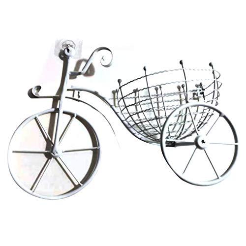 bobeini Cesta de Pared de diseño de Bicicleta Tieyi Interior y Exterior diseño Interior único Blanco