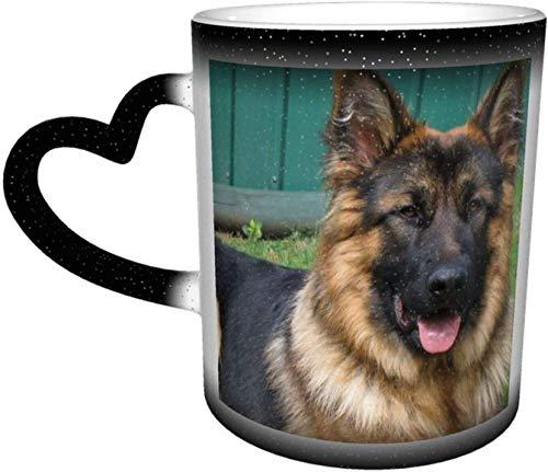 Taza de cerámica, bozal de oveja para perro, taza que cambia de color sensible al calor, tazas de café en el cielo, taza de cerámica