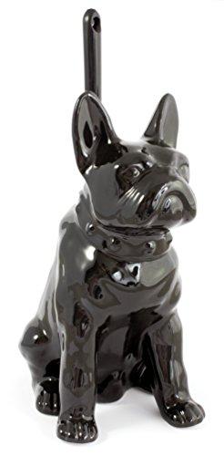 Gelco Design Chien Pot à Balai Ceramique Noir 15 x 20 x 29 cm
