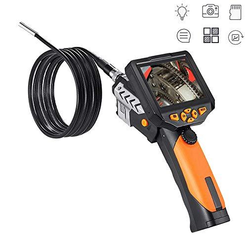 wangt Borescope, IP67 Waterdichte Kleur LCD Scherm Endoscoop 6 Verstelbare Led Lights Inspectie Camera-voor Industriële, sanitair Reparatie