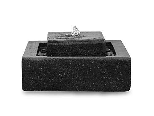 Kiom Brunnen Gartenbrunnen Stufenbrunnen FoScala Darkgrey 48x48x23 cm 10874