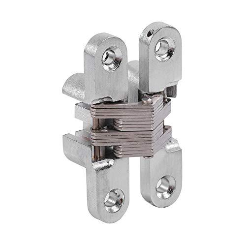 JDEL Zerodisegi4vaf7o-02 180 graden zinklegering, onzichtbare deurscharnieren, 3 soorten 43,7 mm 68,8 mm / 94 mm (60,4 mm), 1 V, roestvrij staal