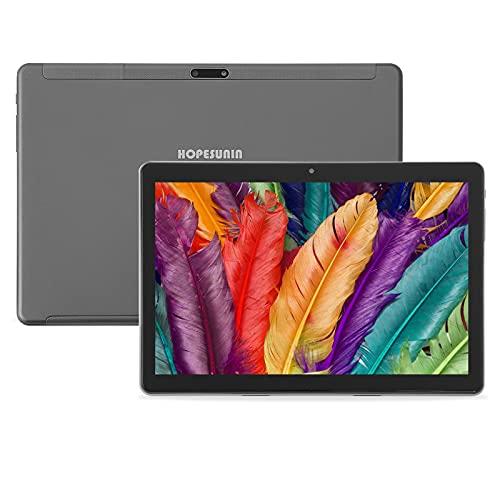 HOPESUNIN Tablet Android da 10 pollici, dotato di Android 9.0 ultraveloce, 4 GB di RAM, 64 GB di ROM-certificazione Google GSM, ultrasottile 8000 mAh   5 MP 8 MP Type-C (grigio)