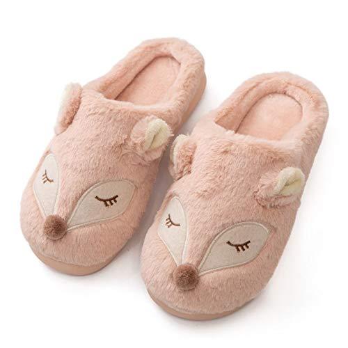 U/A Winter warmes Zuhause Damen Hausschuhe Indoor Baumwolle Damen Hausschuhe weiche Memory Foam Sohle Schuhe