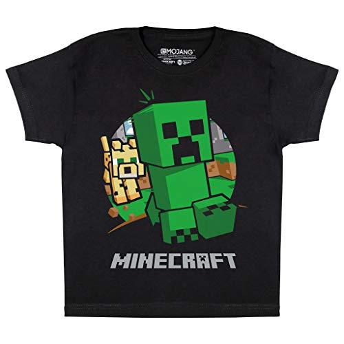 Minecraft Enredadera de Chase Camiseta de los Muchachos Negro 158 | PS4 PS5 Xbox PC Gamer Interruptor de Regalos, Niños Juegos Top, Ropa para niños, Idea del Regalo de cumpleaños de los niños