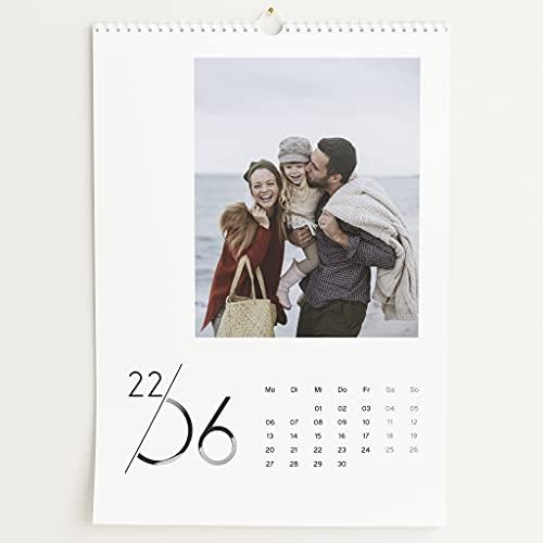 sendmoments Fotokalender 2022 mit Relieflack, Jahreskalender, Wandkalender mit persönlichen Bildern, Kalender für Digitale Fotos, Spiralbindung, DIN A3 Hochformat