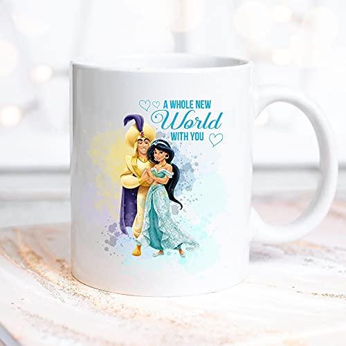 Disney Princess And Prince Mug Disney Mug Gift Belle Aurora Cinderella Rapunzel Snow white Jasmine Disney Family Mug 11 oz