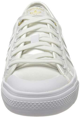 adidas Nizza W, Zapatillas de Gimnasio Mujer, Crystal White/FTWR White/Gold Met, 36 EU