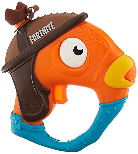 Nerf Super Soaker Fortnite Fishstick Water Blaster -- Fortnite Fishstick Character Design -- Easy-to-Carry Micro Size -- for Kids, Youth, Adults