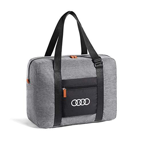 Audi 3152000100 Tasche faltbar Tragetasche Ringe Logo Handtasche hellgrau