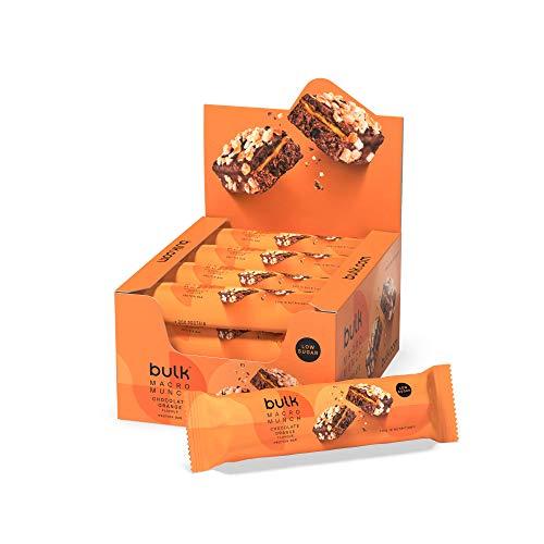 Bulk Macro Munch Proteinriegel, Schoko-Orange, 62 g, Box mit 12 Riegeln, Verpackung Kann Variieren