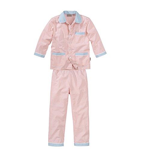 wellyou, Kinder-Schlafanzug, gewebt, lang, für Mädchen, in rosa/blau, Größe 140-146