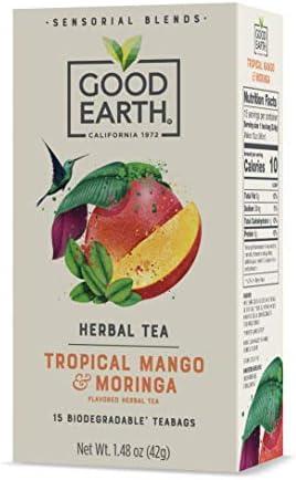 Good Earth Sensorial Tropical Mango Moringa Herbal Tea 15 Count Pack of 5 product image