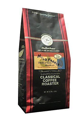 コーヒー豆 クラシカルコーヒーロースター 100%アラビカ豆 マイルドフレンチ 250g (8.8oz) 中挽