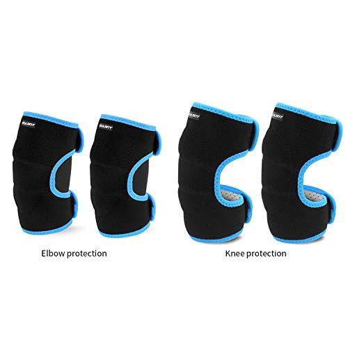 EULANT Set de Protección para Niños, Chicas Rodilleras & Muchachos Coderas, Suave Juego de Protecciones para Patines Esqui Patinaje en Línea Ciclismo Danza Scooter BMX, Azul S Set