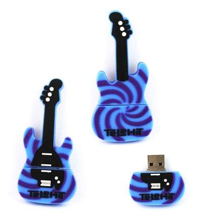 8GB Novelty Cool Blue Zwart Gitaar USB Flash Key Pen Drive Memory Stick Gift UK