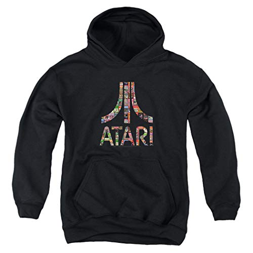 KIds Atari Logo Hoodie with Free Stickers, 3 Colors, 4 Sizes