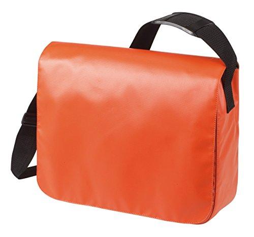 HALFAR® HF6052 Schulter Tasche Style aus LKW Plane Planentasche Umhängetasche , Farbe:ORANGE