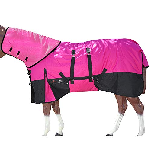 HILASON 72 in 1200D Waterproof Winter Horse Blanket Neck Cover Belly Wrap