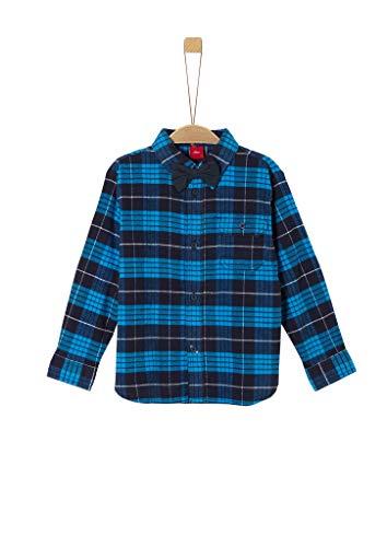 s.Oliver Junior Jungen 404.10.008.11.120.2042146 Hemd, Blue Check, 128/134 /REG