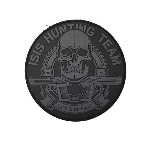 Tactical Innovations Kanada PVC Morale Patch – ISIS Hunting Team 7,6 cm Durchmesser – Schwarz & Grau