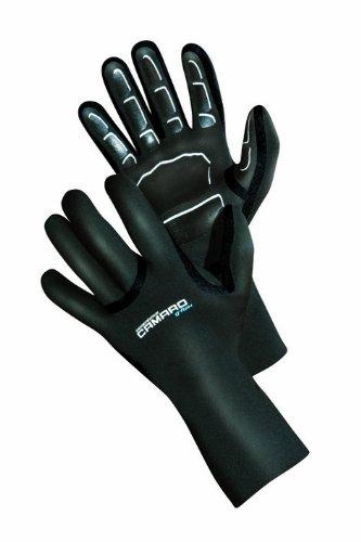 Camaro Seamless - Guantes de Buceo para Hombre (1 mm) Negro Negro Talla:M/L