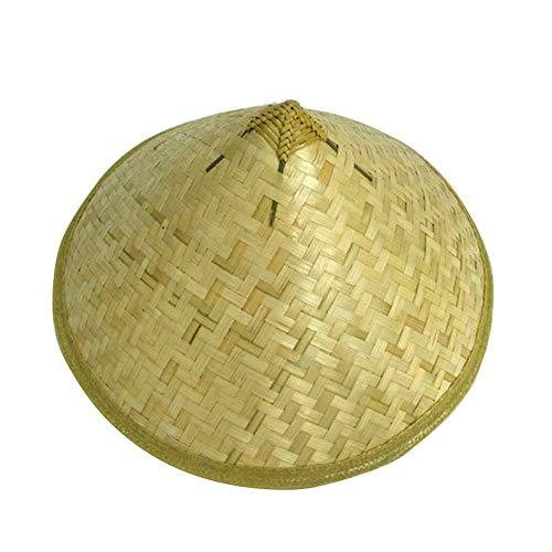 Anglerfish Hut Chinesischer Hut Bambus Sonnenhut Handgemachte Fischerei Reis Hut Stroh Chinesischer Kuli für Kostüm