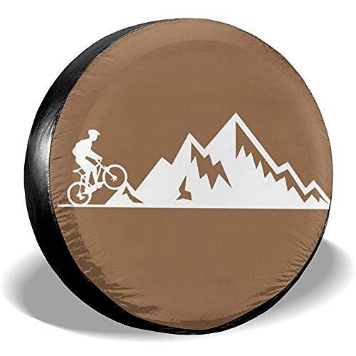 Niet bruikbare beschermhoes voor mountainbike, heartbeat, zonbescherming, regenbescherming, diameter bandafdekking voor voertuigen, aanhangers, SUV, verschillende 16in/76~79cm 4 X 100 M