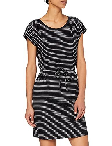 VERO MODA Damen Vmapril Ss Short Dress Ga Noos Kleid, Mehrfarbig (Black Stripes: Snow-Rebecca), S