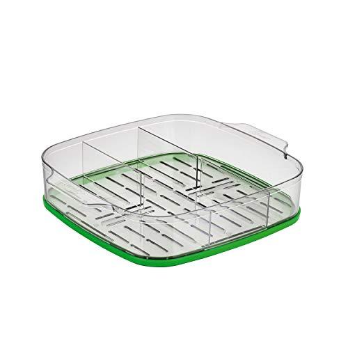Genius Ceravital Vitalight (6 Teile) Dampfgaraufsatz in grün Ø 20 cm - Ideal um Gemüse, Fleisch und Fisch schonend auf den Punkt zu garen - Dampfgarer slow cooker Dampfgareinsatz